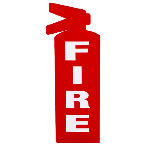 FIRE Red Vinyl Self Adhesive Sign