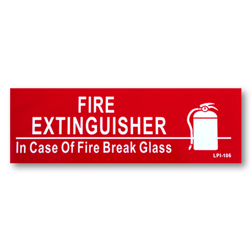 """6"""" x 2"""" Vinyl Sign with Self Adhesive"""