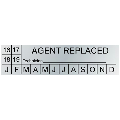 Agent Replacement Label