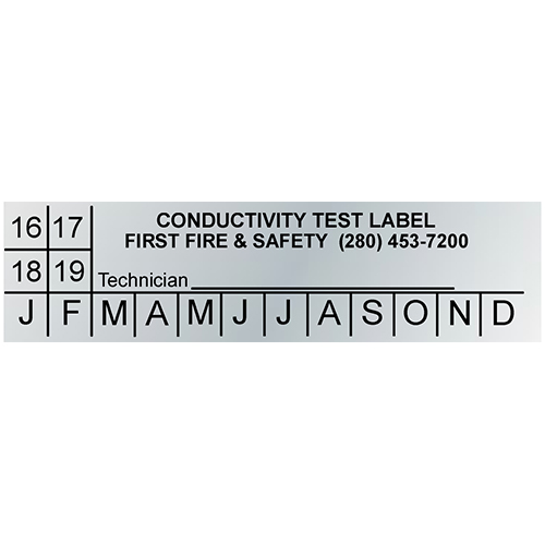 Custom Imprinted Metallic Conductivity Test Labels