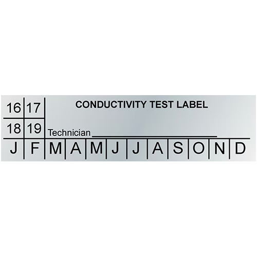 Blank Metallic Conductivity Test Labels