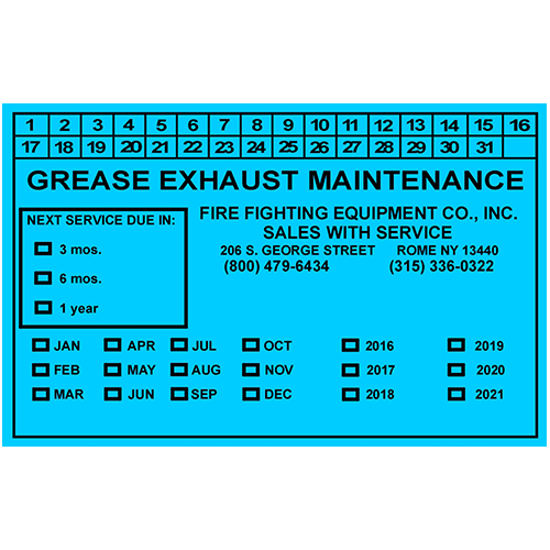 Grease Exhaust Maintenance - Blue