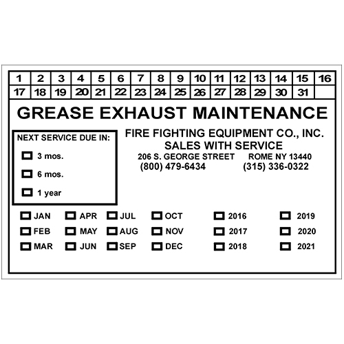 Grease Exhaust Maintenance - White