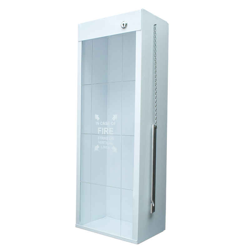 Indoor / Outdoor Metal Fire Extinguisher Cabinet with Metal Striker