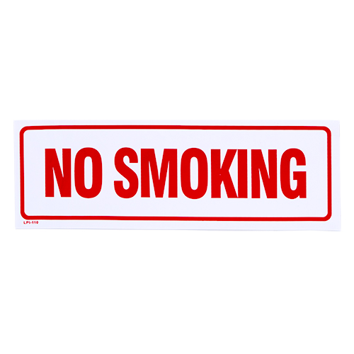 No Smoking Vinyl Self Adhesive Sign