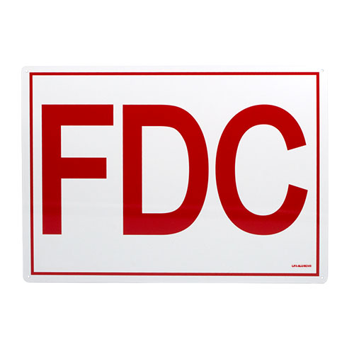 FDC Aluminum Sign with 6
