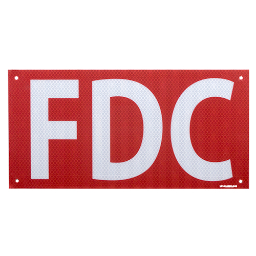 FDC  Aluminum Sign with Reflective 6