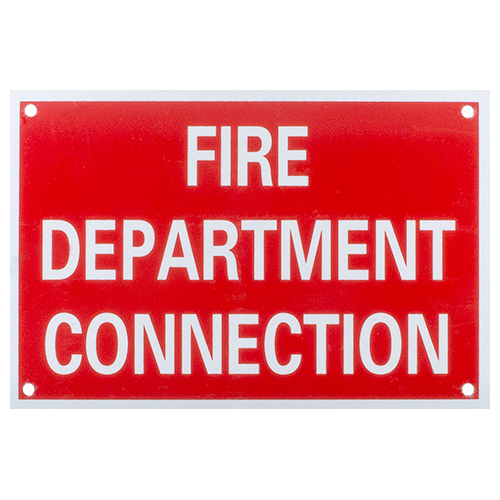 Aluminum Fire Department Connection Sign