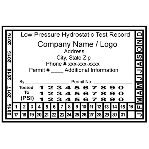 Custom Low-Pressure Hydrostatic Test - White