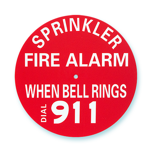 Sprinkler Alarm Signs