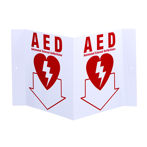 3-D Rigid Plastic Angle Sign AED