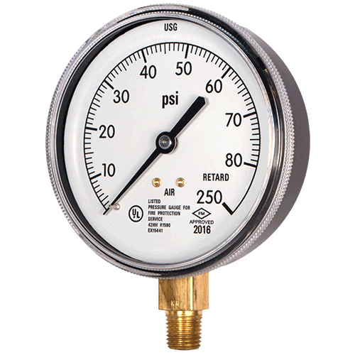 UL Listed Sprinkler System Gauge - Air