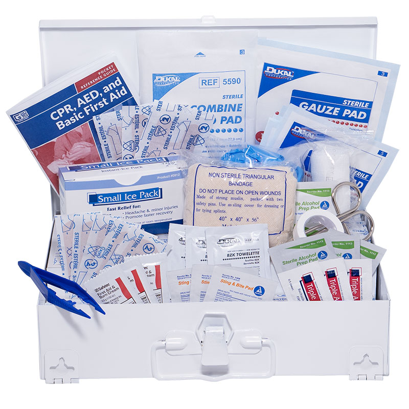 25 Person First Aid Kit - Steel Kit