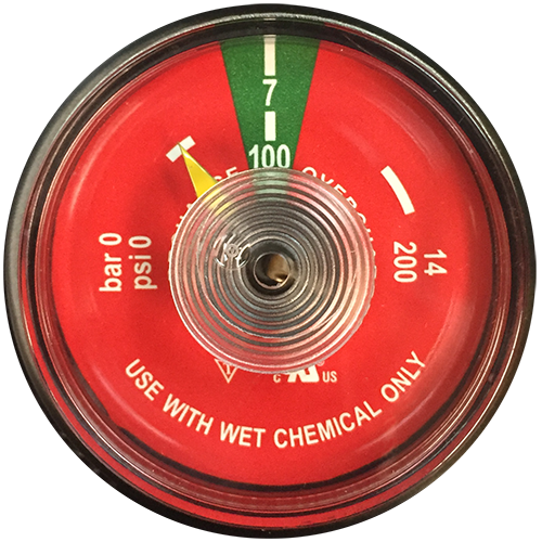 UL Listed K Class Wet Chemical Gauge