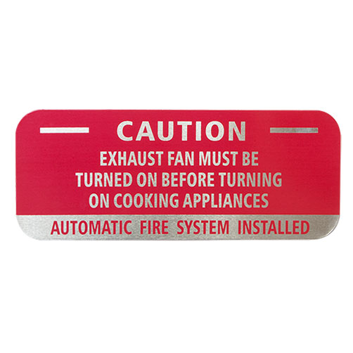 "5"" x 2"" Aluminum CAUTION System Sign with Adhesive"