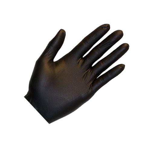 Heavy Duty Black Nitrile Gloves - Large