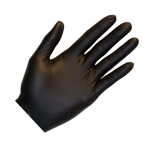 Heavy Duty Black Nitrile Gloves - XL