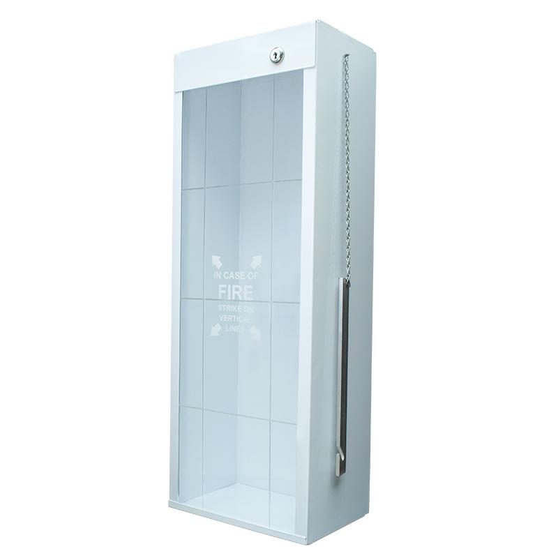 Indoor / Outdoor Metal Fire Extinguisher Cabinet with Metal Striker